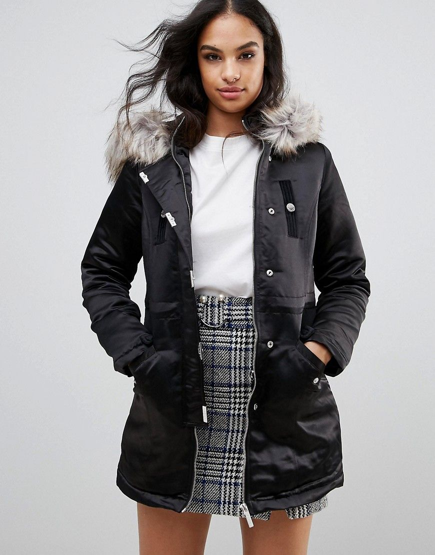 Lipsy silver parka coat