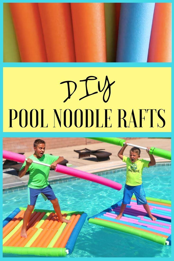 Pool Noodle Raft Racing Experiment Backyard Swimming Pool Challenge Pool Activities Party Swimming Pool Backyard Pool Parties