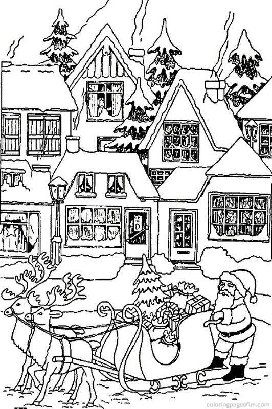 d512d496a01676697af525fdc062ed50 » Santas House Coloring Page
