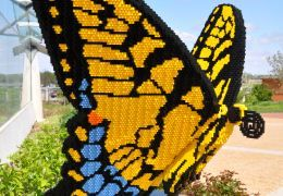 a butter fly made out of legos
