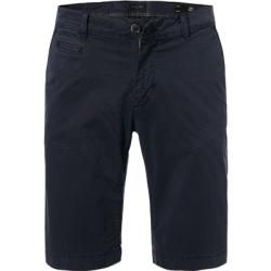 Photo of Baldessarini men's trousers Bermuda shorts, slim fit, cotton, navy blue Baldessarini