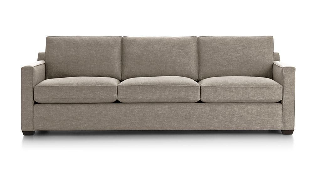 reviewed the most comfortable sofas at crate gunston living rh pinterest com  crate and barrel willow sleeper sofa review