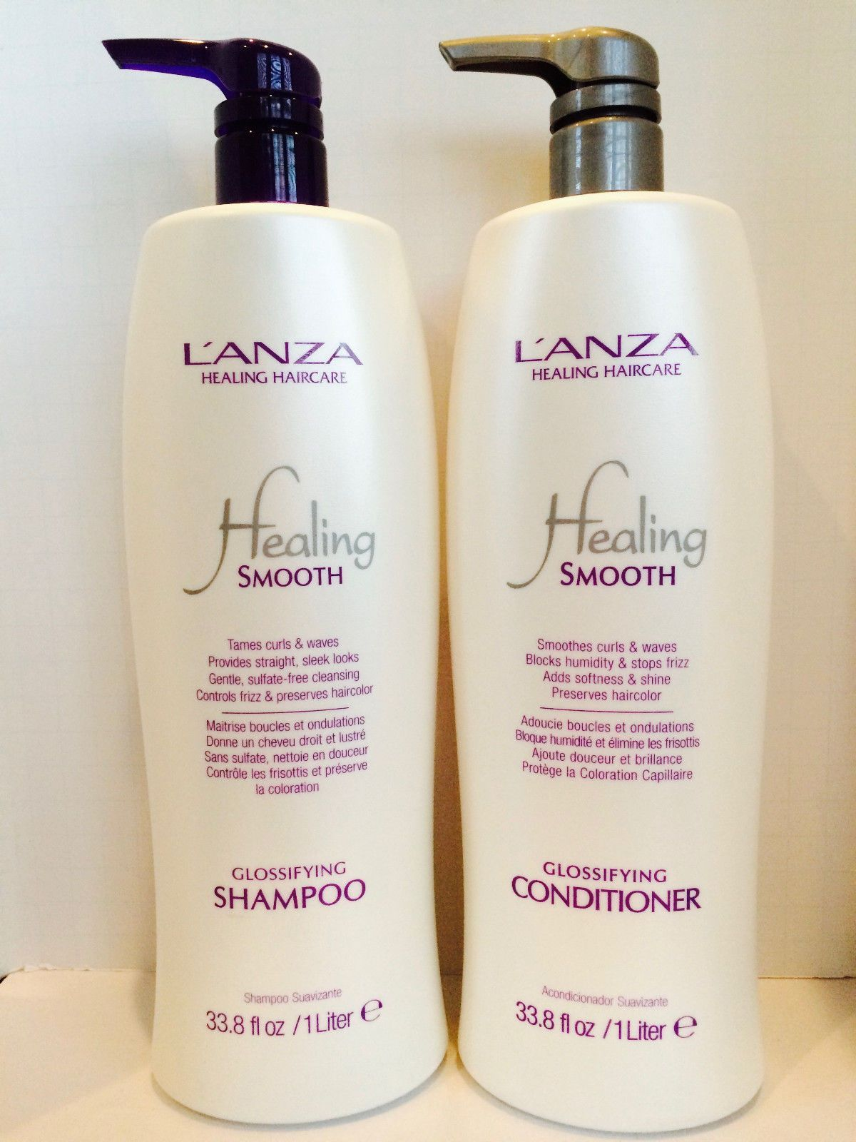 Healing Smooth Glossifying Shampoo & Conditioner Liter Duo Set 33 8oz