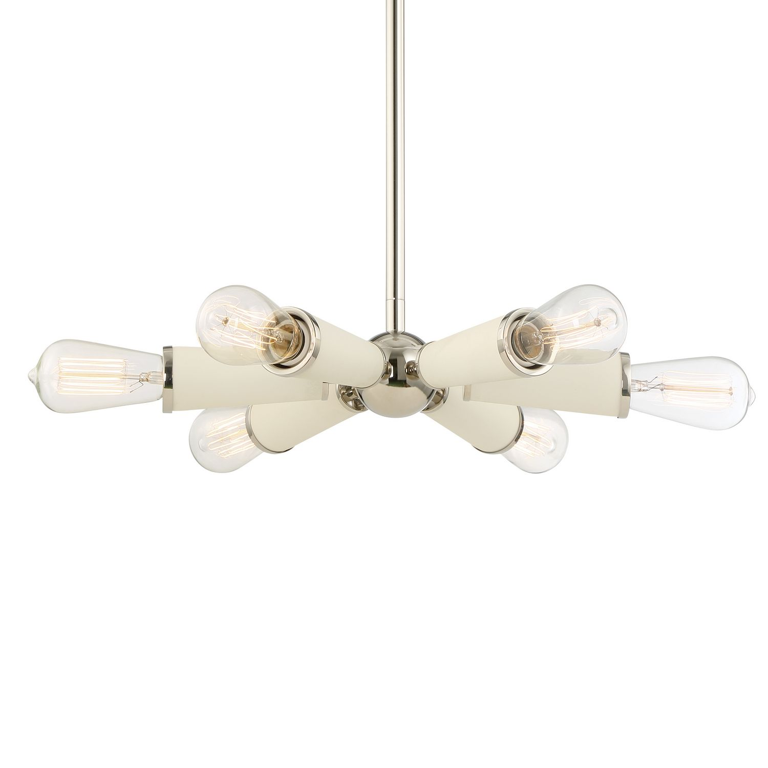 Six Light Chandelier A one-of-a-kind Sputnik-style ceiling mount in ...