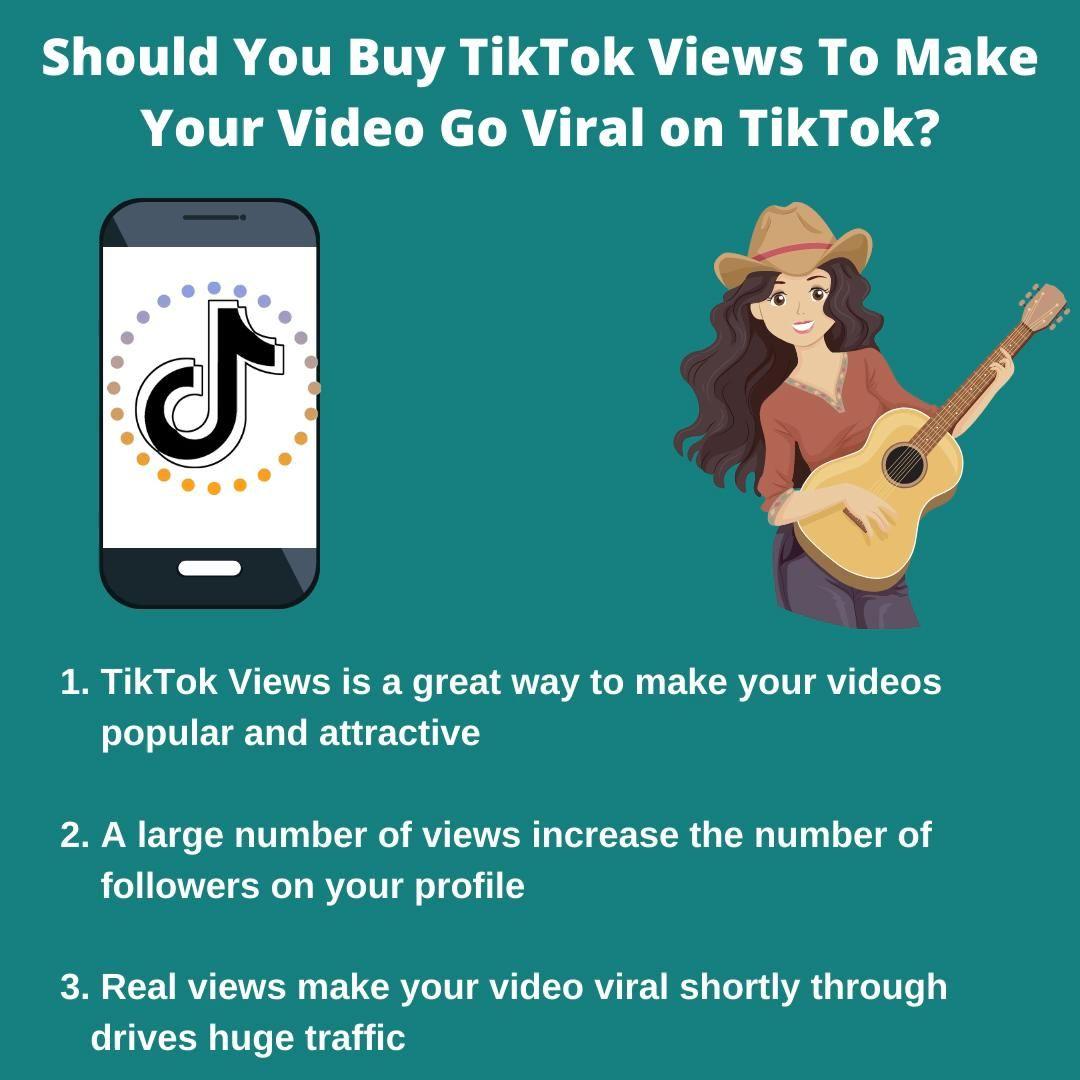 Should You Buy Tiktok Views To Make Your Video Go Viral On Tiktok Video Music Videos You Videos Social Media Services