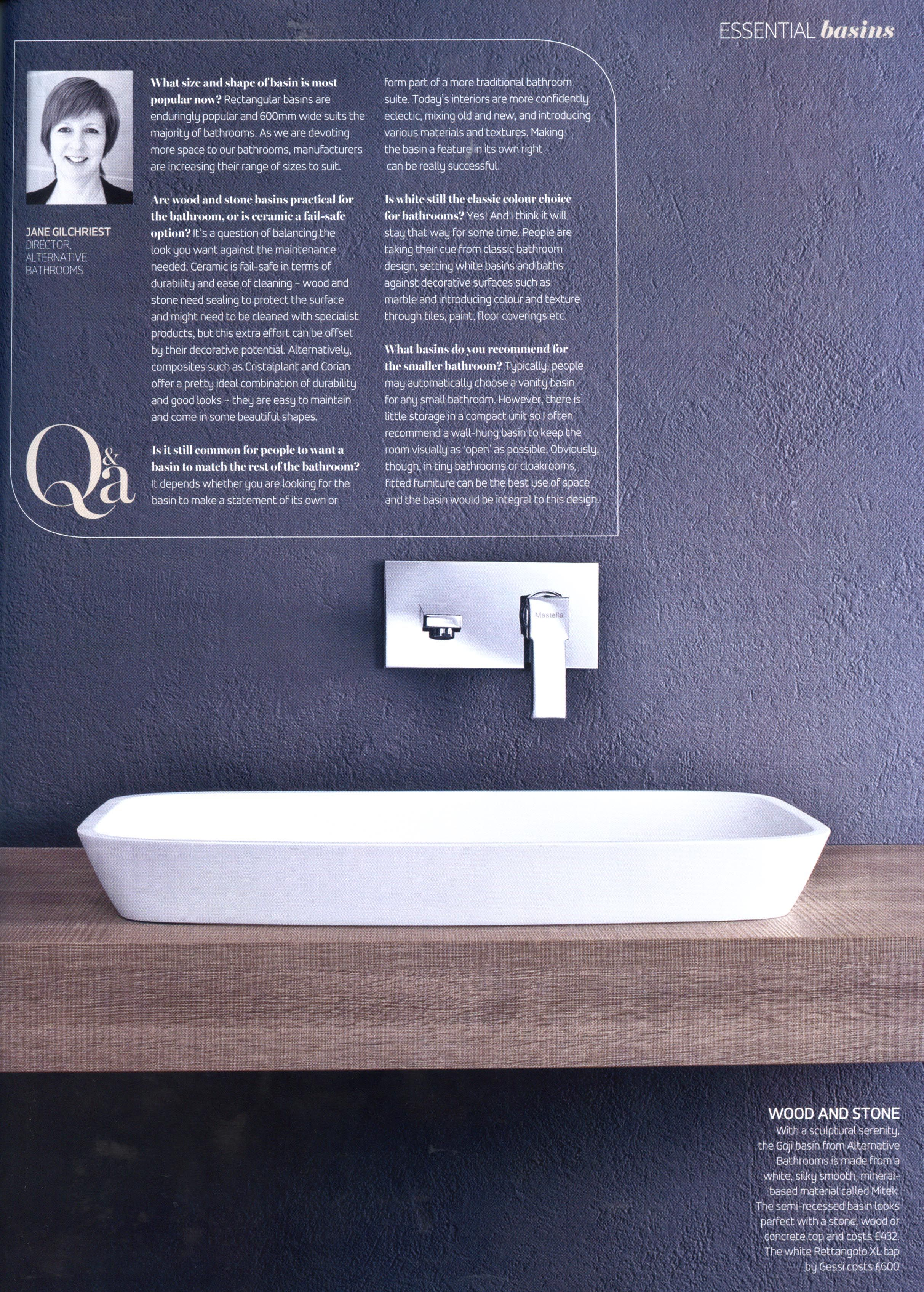 Mastella\'a Goji basin, available from Alternative Bathrooms ...