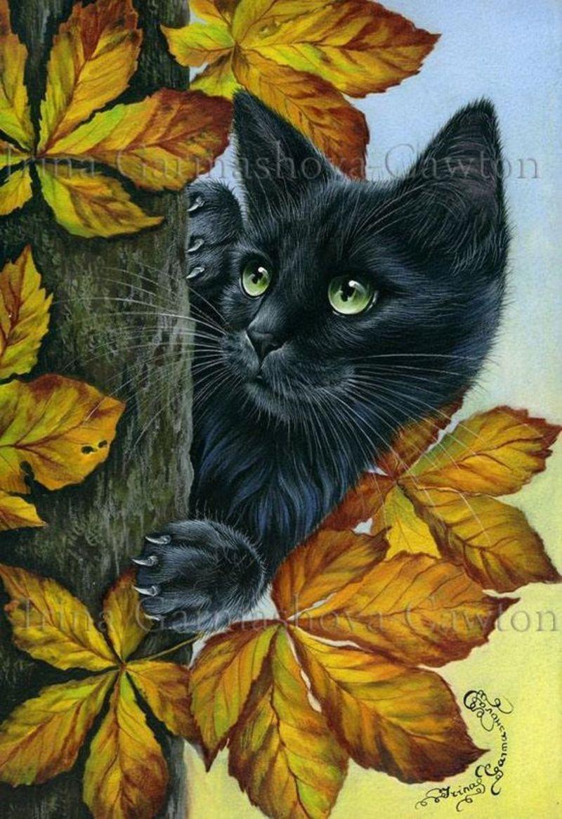 Image Du Blog Mamietitine Centerblog Net Illustration De Chat Peinture De Chat Image Chat