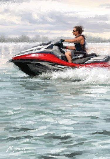 Jet Ski By The Macneil Studio Trademark Fine Art Ski Print Canvas Art