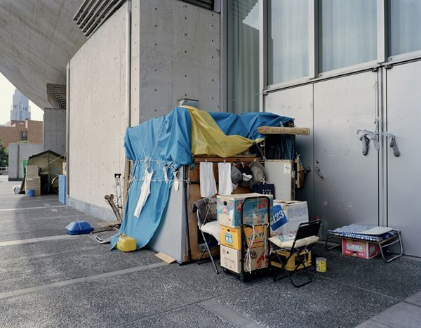 Photo Gallery Huts By The Homeless Of Japan And Finland Homeless Shelter Hut Photo