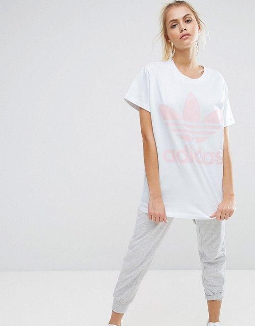 camisetas mujer adidas originals rosa