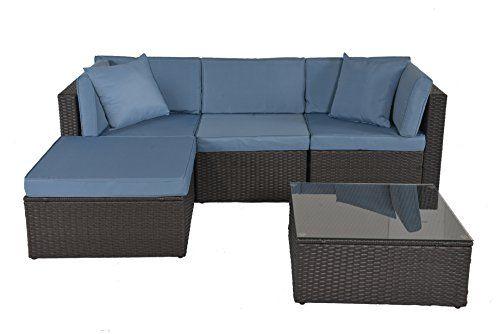 Miraculous Gojooasis Outdoor Patio Pe Wicker Rattan Sofa Sectional Ibusinesslaw Wood Chair Design Ideas Ibusinesslaworg