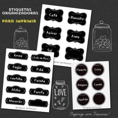 etiquetas organizadoras para imprimir