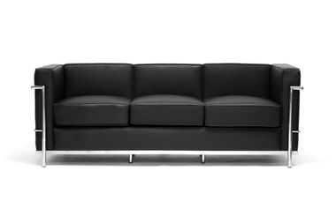 This Pee Leather Sofa Has A Sy Stainless Steel Frame Fully Welded Sealed And Sanded Sleek Black Upholstery