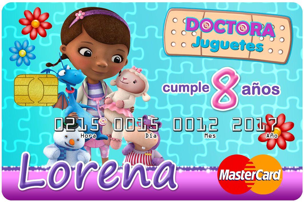 Diseños Tarjetas Invitacion Credicard Pack N 2 Doctora