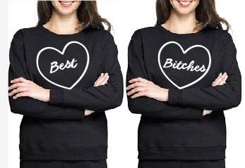 BEST BITCHES Set of Two Sweatshirts by HelloBeYOUteeFULL on Etsy, $50.00 #besties #bff