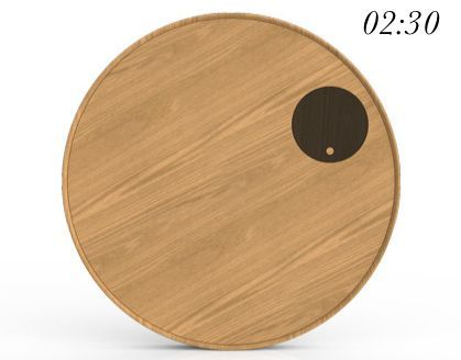 weird clock | ... an unusual yet intuitive and minimal wall clock, named Period Clock