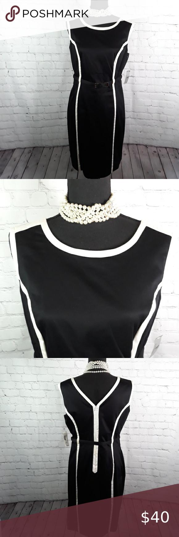 Worthington Black Dress Black Dresses Casual Sleeveless Shift Dress Black Dress [ 1740 x 580 Pixel ]