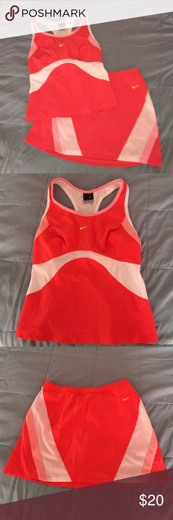 2piece Nike suit athletic size 0/2 2 piece Nike dri-fit athletic suite size 0/2 small in excellent condition bundle and save  Nike Other