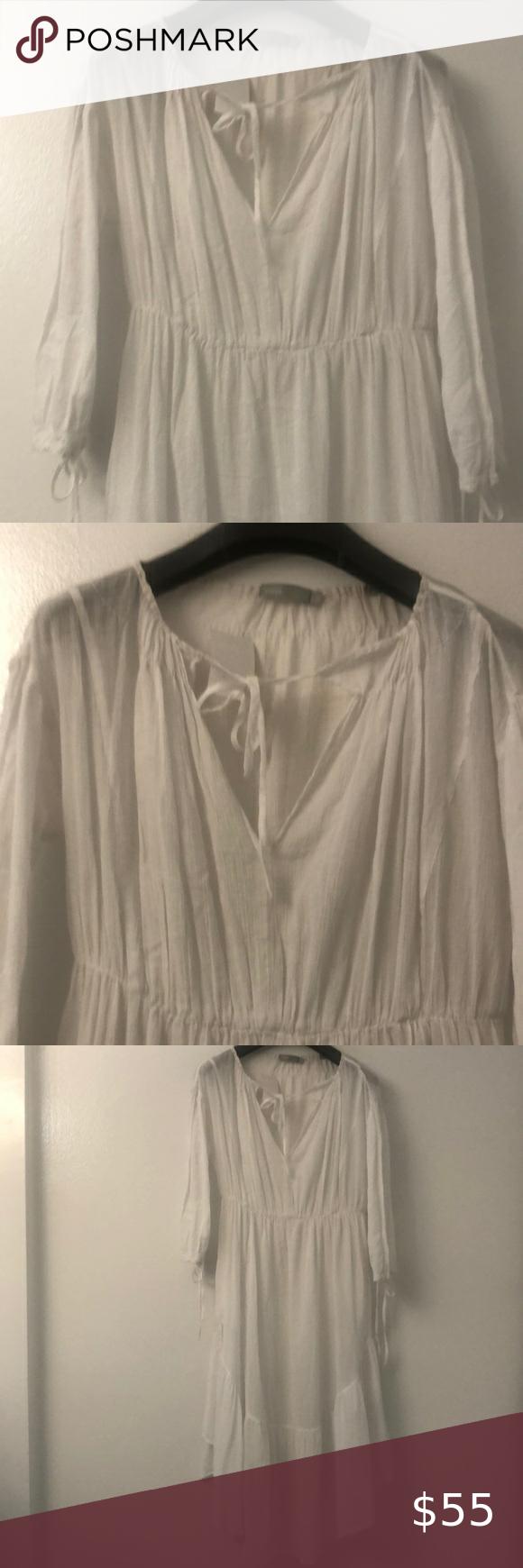 Vince Shirred Seamed Dress Vince Dress Dresses Shirred [ 1740 x 580 Pixel ]