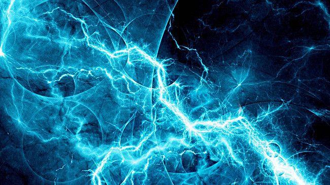 Blue Lightning in 2020 | Cool blue wallpaper, Blue wallpapers, Fractal art