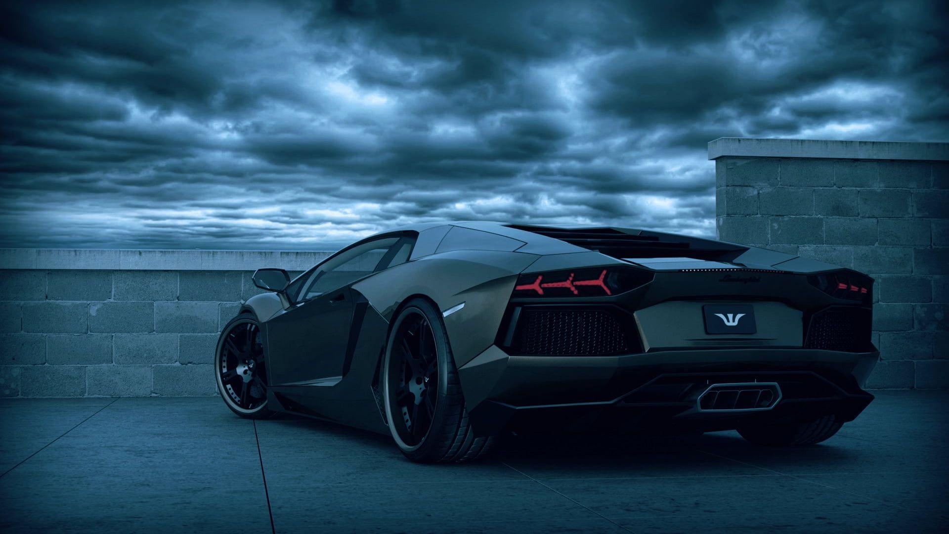 black Lamborghini Aventador coupe #car Lamborghini ...