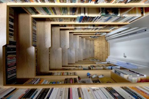 Delightful Stairs Bookcase Clever Furniture Design