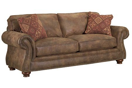 Broyhill Laramie Sofa I Love This Style Sofa, In Plush/velvety Fabrics,  Leather