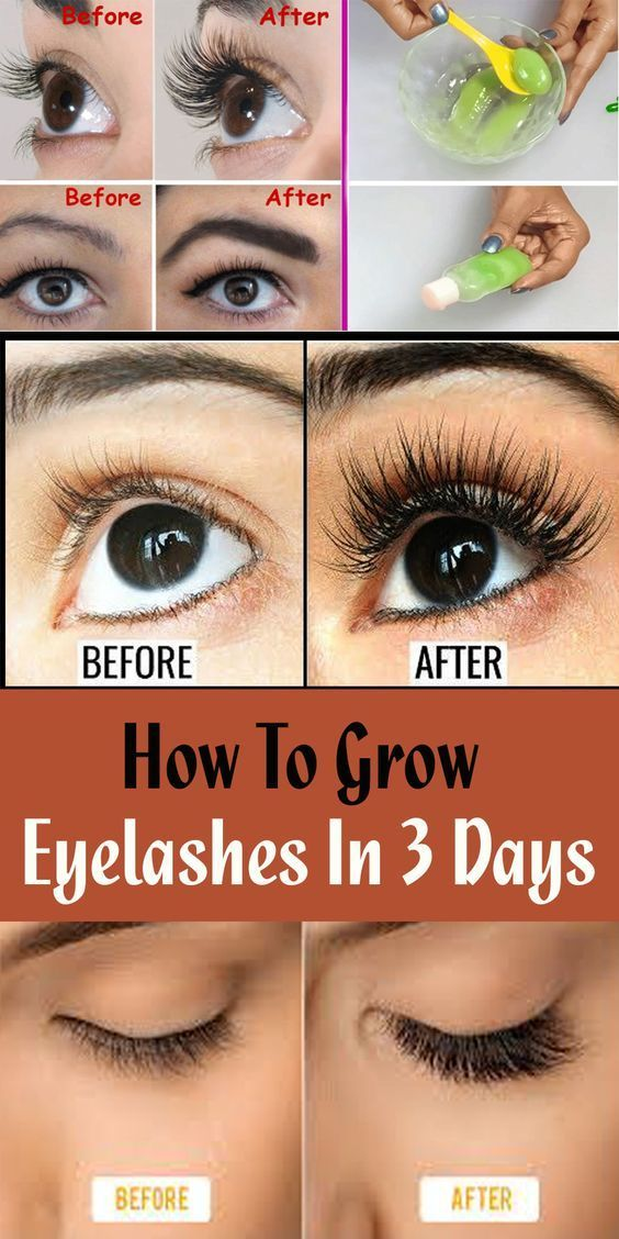 How To Grow Eyelashes In 3 Days in 2020   How to grow ...