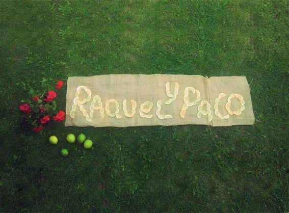#cartel para #boda con rodajas de #limon. Más en http://la-tarara.com
