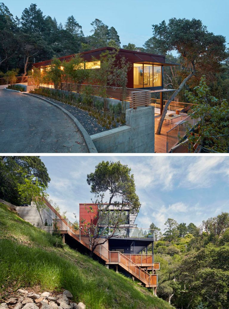 The Hillside House By Zack De Vito Architecture Construction Hillside House Sloping Lot House Plan Architecture