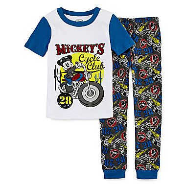 jcp   Disney Collection 2-pc. Mickey Mouse Pajama Set - Boys 2-10