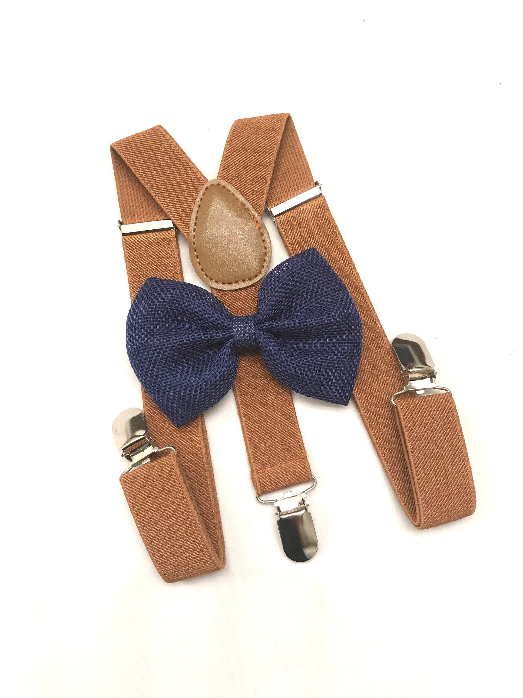 6a16d78ce0d9 Barnyard Suspenders & Bowtie Set Newborn- Navy Blue Baby Boy bowtie  Suspender Boys Bowties Toddler Necktie Navy boy Braces Photo Prop by  DreamsareMagic on ...