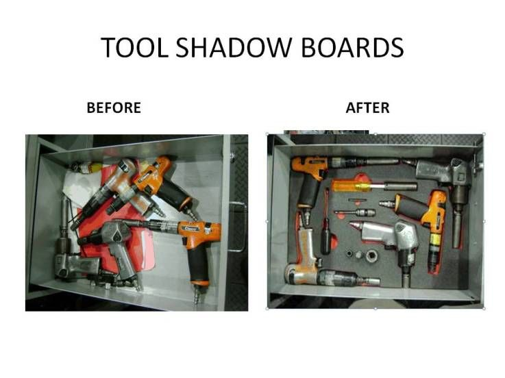 Tool Shadow Boards Before amp After Great 5S Sort Set