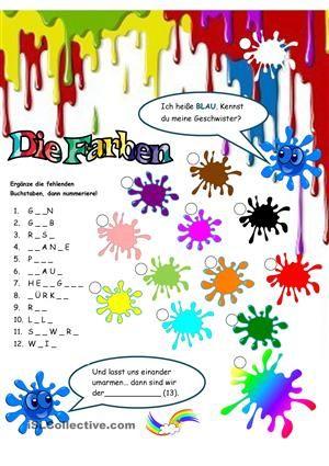 Farben | Teaching materials, English language and Worksheets