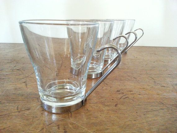 Glass Coffee Mugs Vintage Italian Bormioli Rocco Coffee Cups