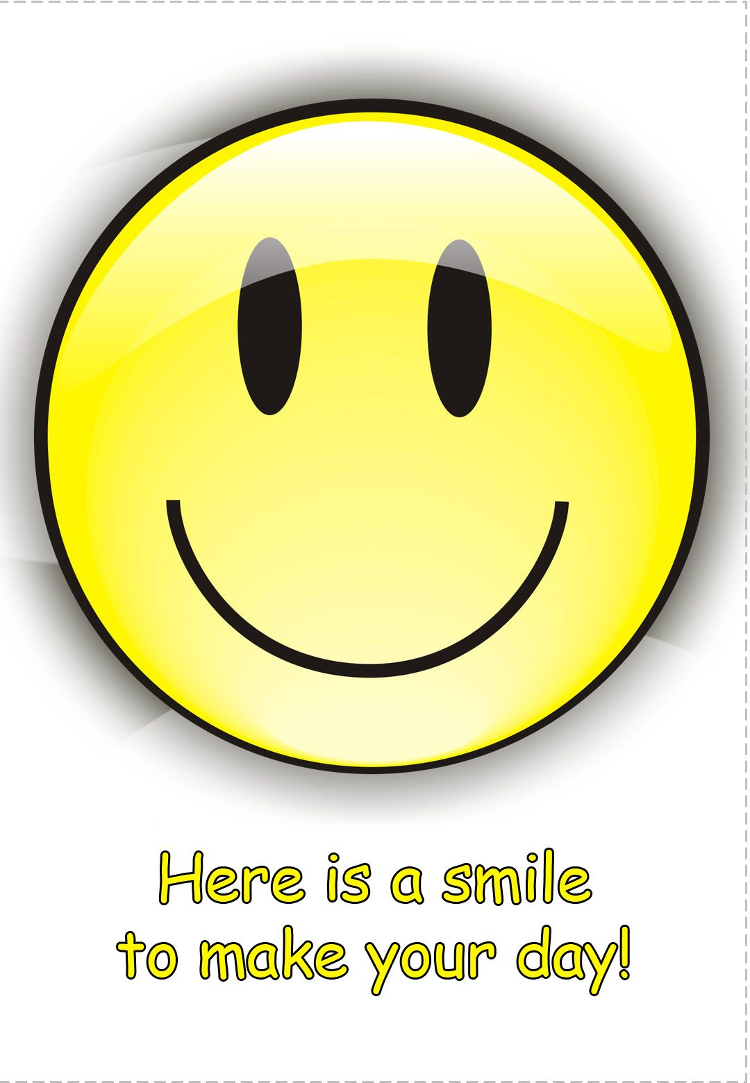 Free #Printable Cheer Up #Card - Here is a smile to make ...