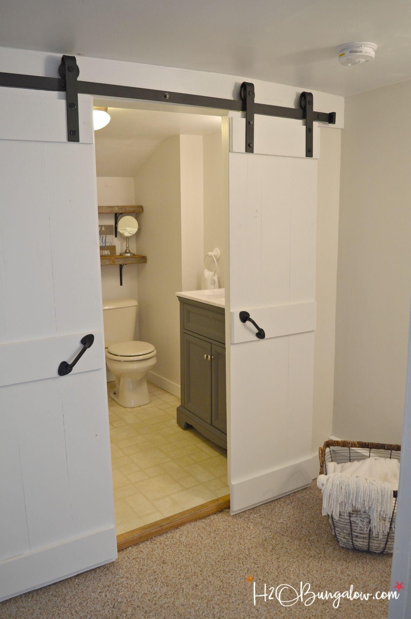 Easy Diy Double Barn Door Tutorial For Interior Sliding Barn Doors