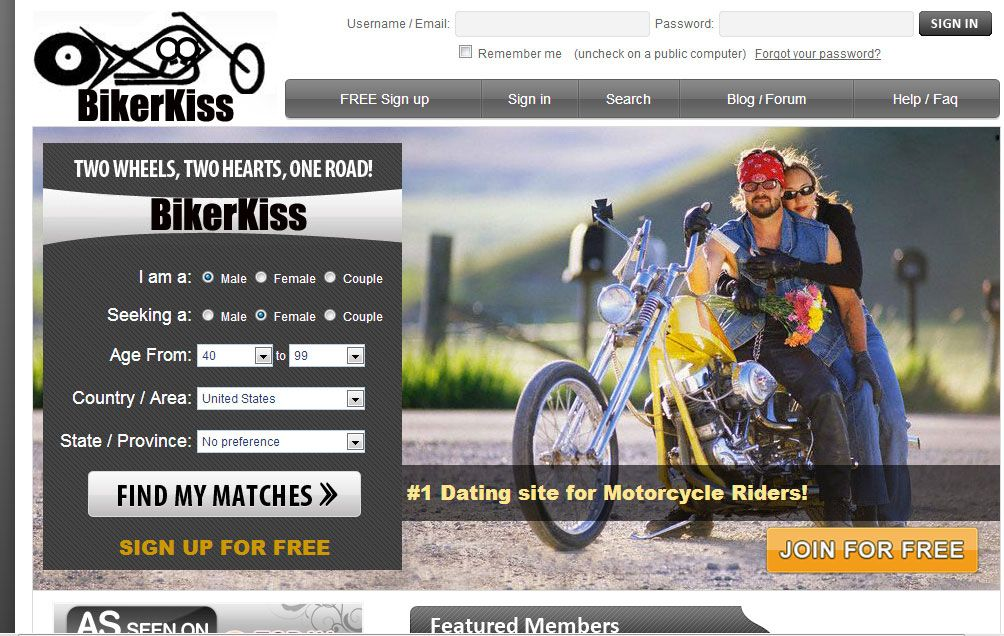 Free dating sites for motorcycle riders