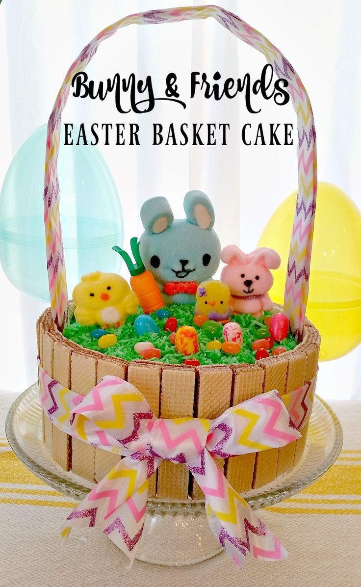 Bunny and friends easter basket cake an affordable custom cake how to create an affrodable custom bunny and friends easter basket cake ad negle Gallery