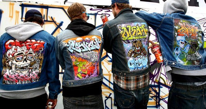 Photo Check Out These Dope Graffiti Painted Denim Jackets
