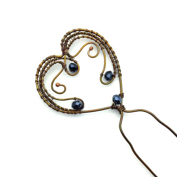 This Hair Pin was made using pure copper wire. I twisted the wire ...