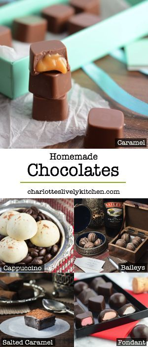 Homemade chocolates homemade chocolate recipes homemade all the homemade chocolate recipes from charlottes lively kitchen including baileys truffles caramel filled negle Images
