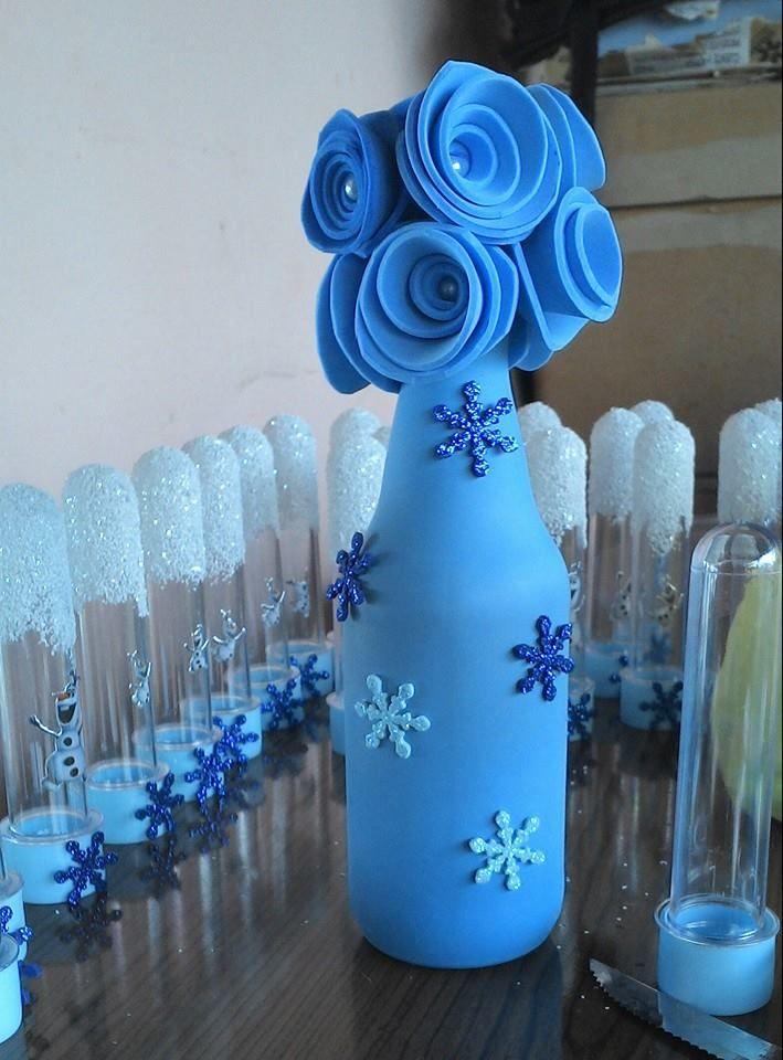 Garrafa Encapada com Balão Tema Frozen c23d4b48a93