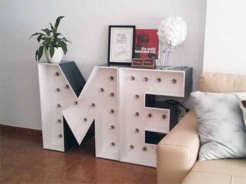Letras de madera para decorar sal n letras con luces - Casa letras madera ...