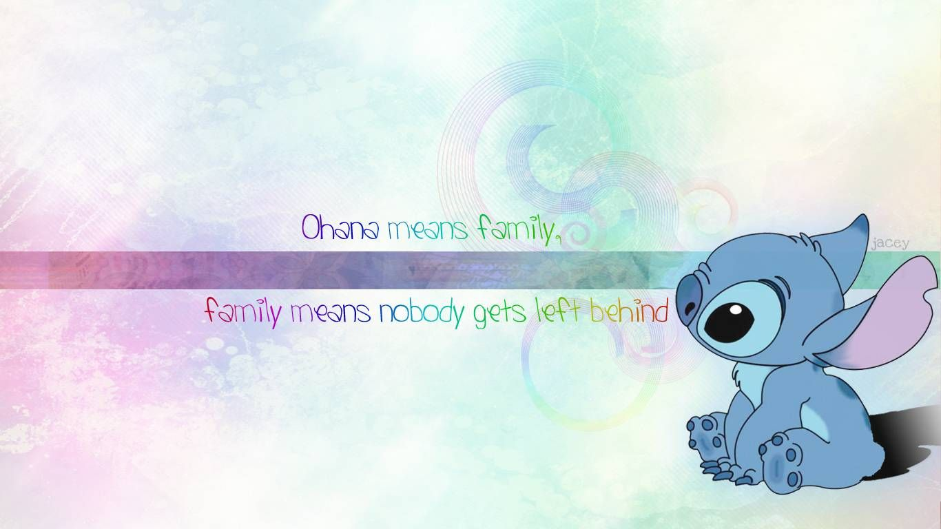 stitch ohana quote wallpaper - photo #24