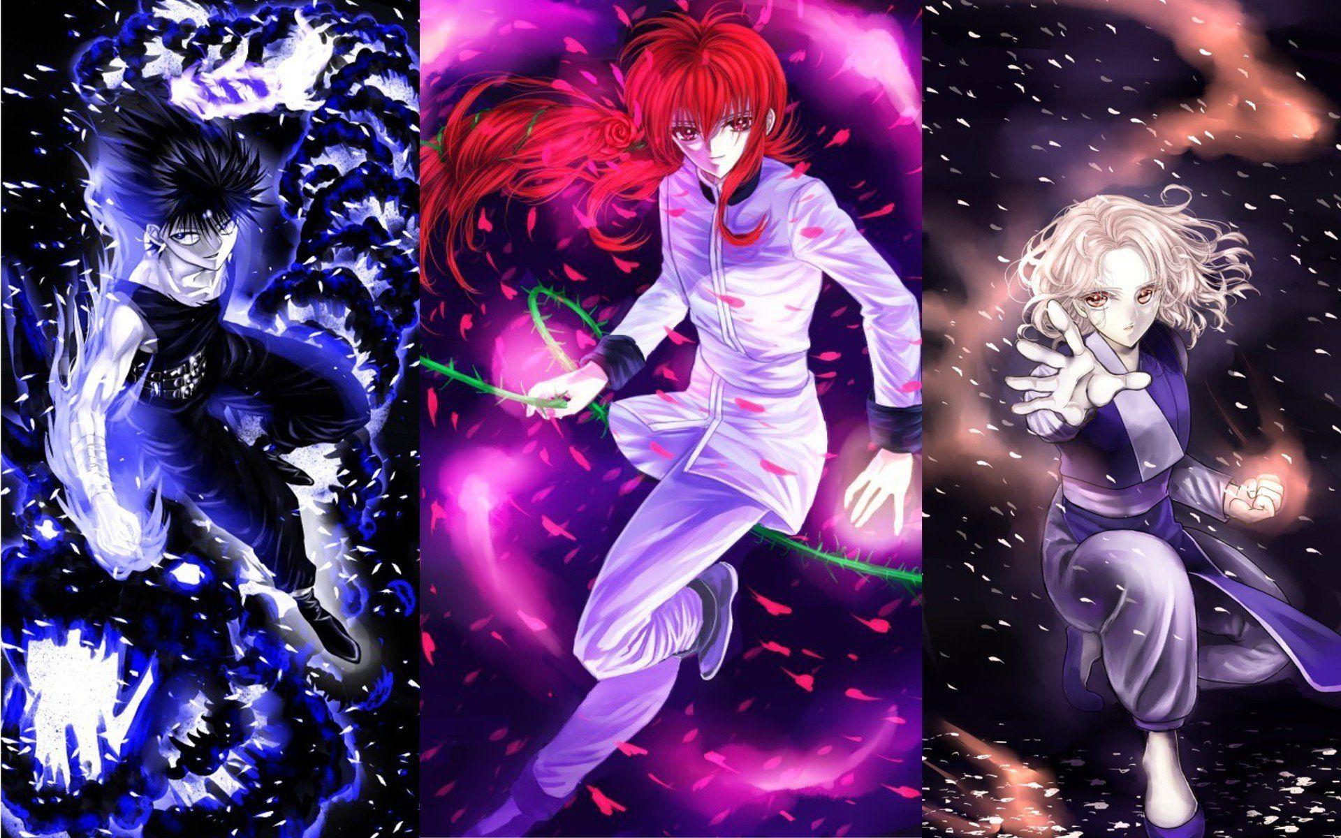 Hiei Kurama And Genkai Yu Yu Hakusho Wallpaper Yuyu Hakusho