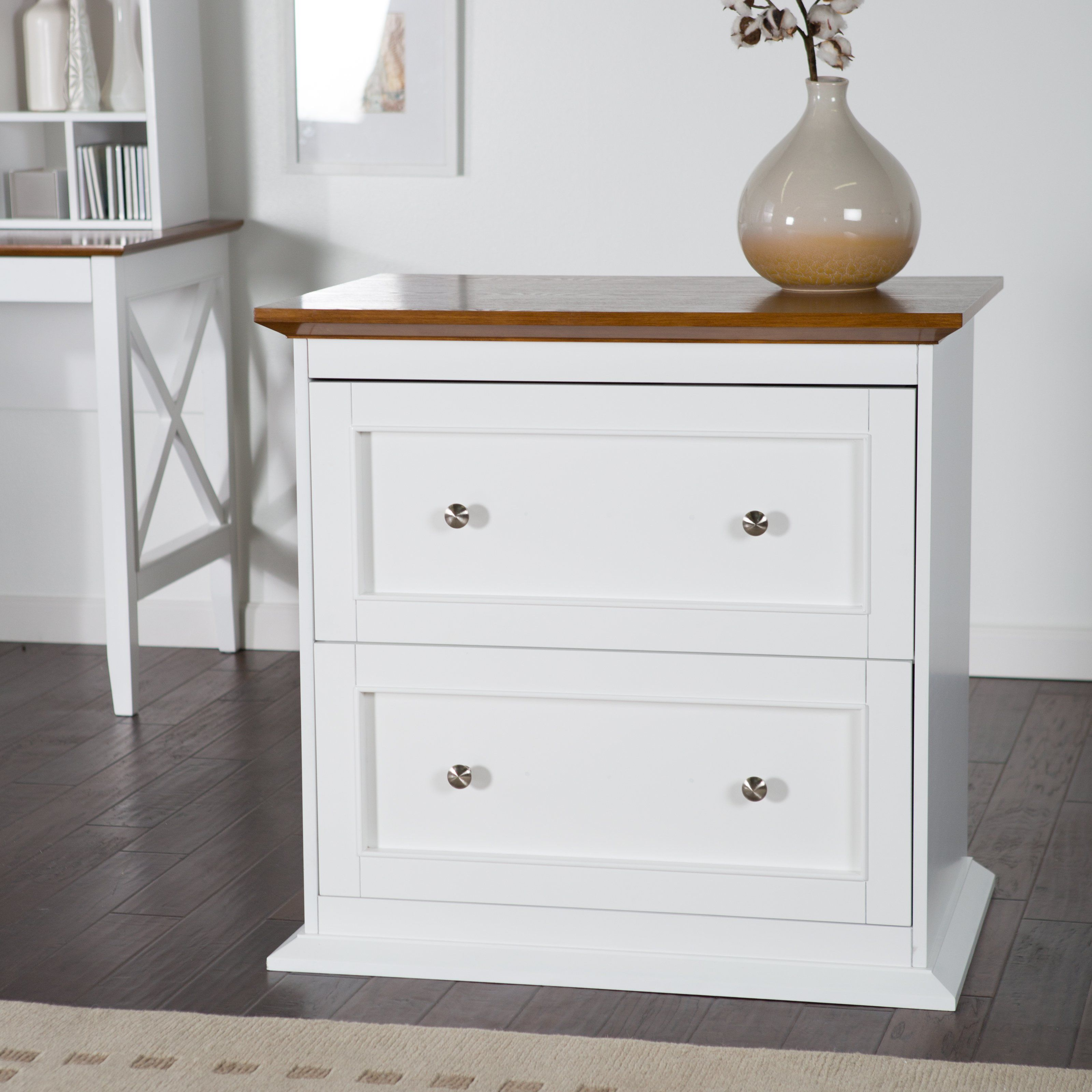 Belham Living Hampton Two Drawer Lateral Filing Cabinet White