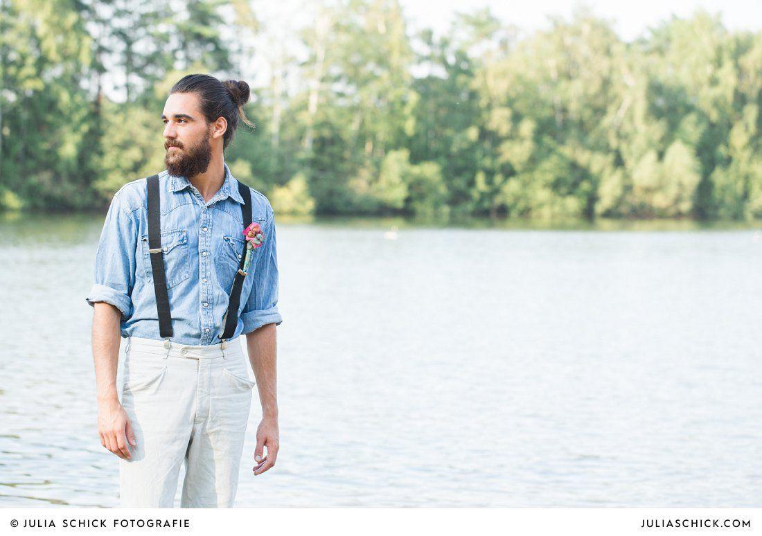 Brilliant Bräutigam Vintage Collection Of Bärtiger #bräutigam In #jeanshemd Und #hosenträgern Mit