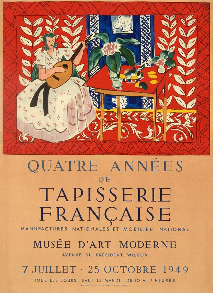 de7146cb060 Quater Annees de Tapisserie Francaise by Henri Matisse in 2019