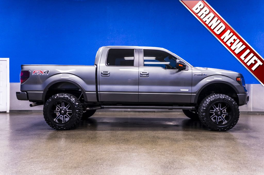 Take a gander at this 2014 Ford F150 FX4 4x4 with a clean